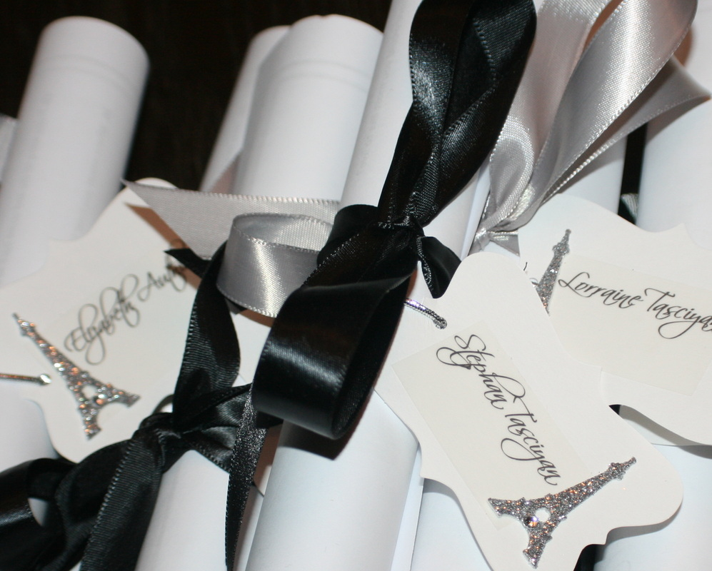 Invitations for Christmas Dinner to be Hand Delivered {pistache and rose}